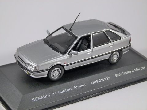RENAULT 21 BACCARA in Silver 1/43 scale model by Odeon