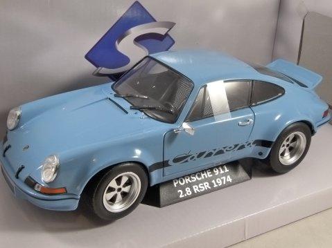 1974 PORSCHE 911 2.8 RSR in Blue 1/18 scale model by SOLIDO
