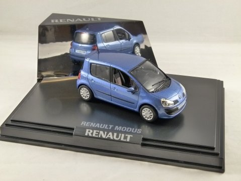 RENAULT MODUS in Blue 1/43 scale model by Norev