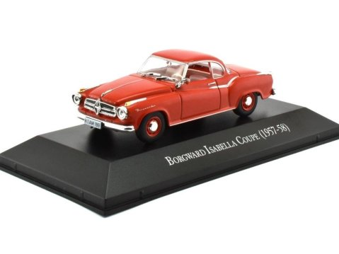 1957-58 BORGWARD ISABELLA COUPE in Red - 1/43 scale partwork model