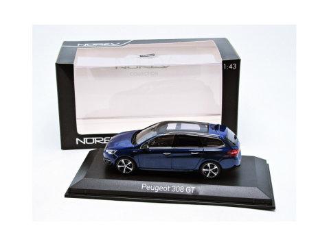 PEUGEOT 308 SW GT LINE in Blue 1/43 scale model by Norev