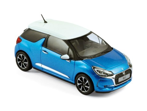 2016 CITROEN DS3 in Blue 1/43 scale model by Norev