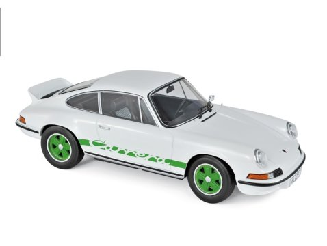 1973 PORSCHE 911 RS TOURING in White / Green 1/18 scale model by NOREV