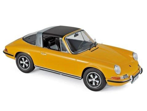 1969 PORSCHE 911 E TARGA in Orange 1/18 scale model by NOREV