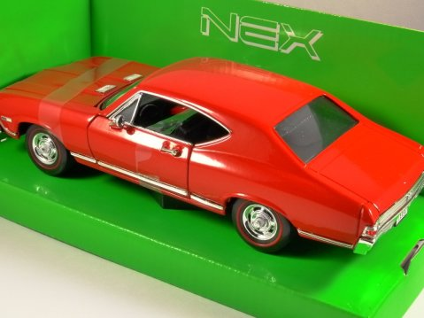 1968 CHEVROLET CHEVELLE SS 396 in Red 1/24 scale model by WELLY
