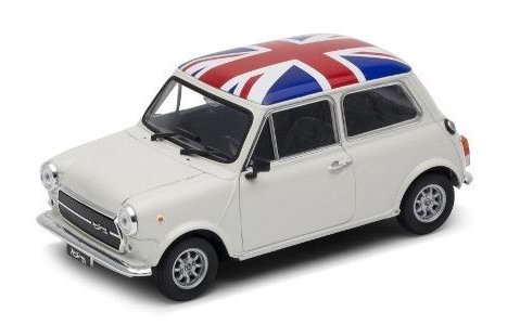 MINI COOPER 1300 with Union Jack roof 1/24 scale model by WELLY