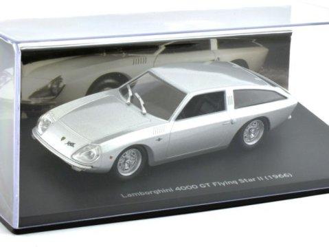 1966 LAMBORGHINI 4000 GT Flying Star II in Silver 1/43 scale model