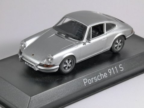 1973 PORSCHE 911 S 2.4 in Silver 1/43 scale model by Norev