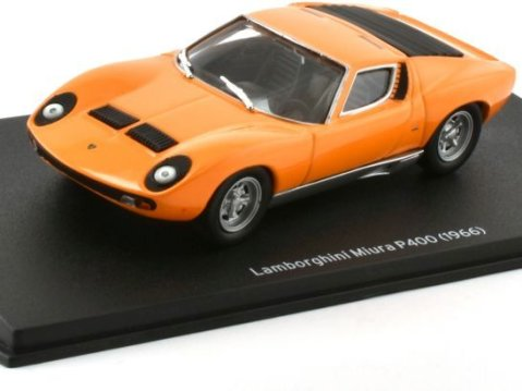 1966 LAMBORGHINI MIURA P400 in Orange 1/43 scale model