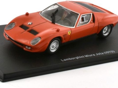 1970 LAMBORGHINI MIURA JOTA in Red 1/43 scale model