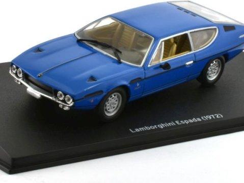 1972 LAMBORGHINI ESPADA in Blue 1/43 scale model