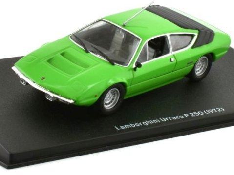 1972 LAMBORGHINI URRACCO P250 in Green 1/43 scale model