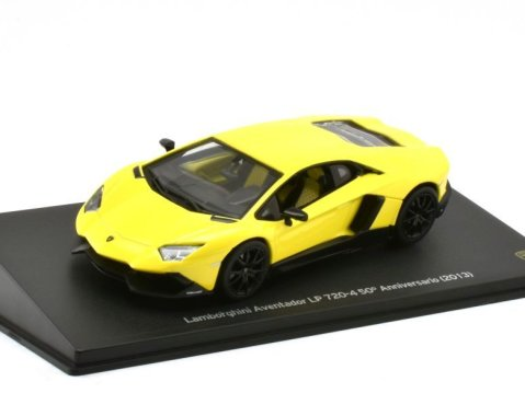 2013 LAMBORGHINI AVENTADOR LP720-4 50th Anniversary in Yellow 1/43 scale model