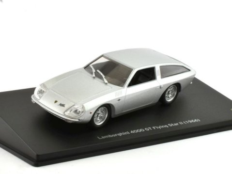 1966 LAMBORGHINI 4000 GT Flying Star II in Silver 1/43 scale model