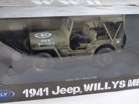 1941 JEEP WILLYS MB WW2 1/18 scale model by WELLY