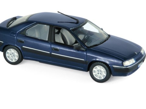 1993 CITROEN XANTIA in Mauritius Blue 1/43 scale model by Norev