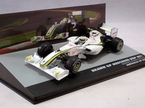 BRAWN GP MERCEDES BGP001 Rubens Barrichello F1 GP 2009 1/43 scale partwork model