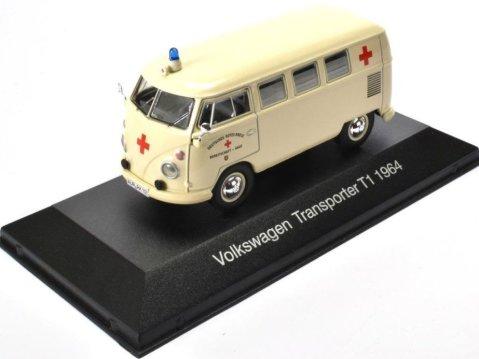 1964 VOLKSWAGEN T1 TRANSPORTER Ambulance - 1/43 scale partwork model