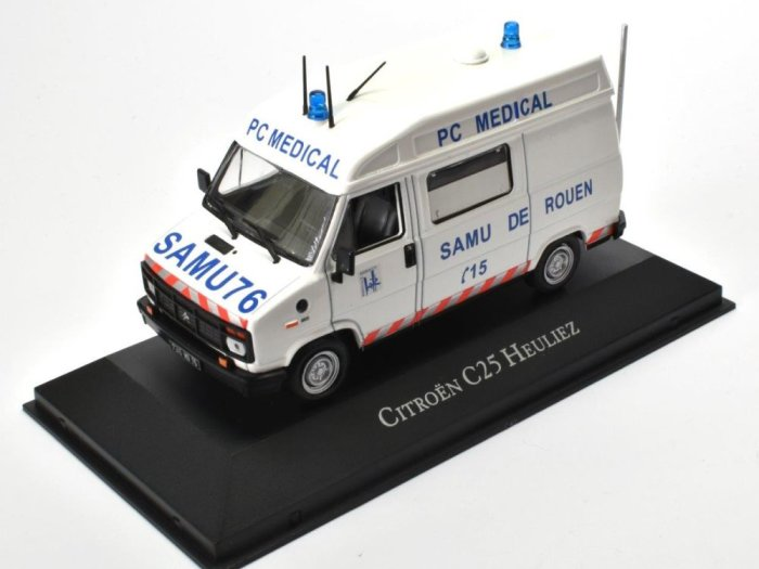 1984 CITROEN C25 HEULIEZ Ambulance 1/43 scale diecast model