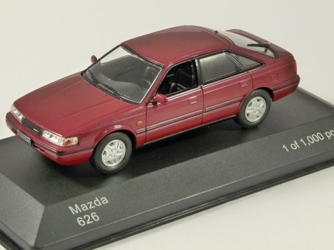 1990 MAZDA 626 in Red 1/43 scale model by Whitebox