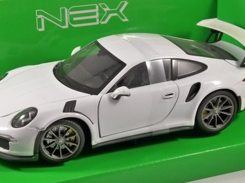 2016 PORSCHE 911 GT3 RS in White 1/24 scale model by WELLY