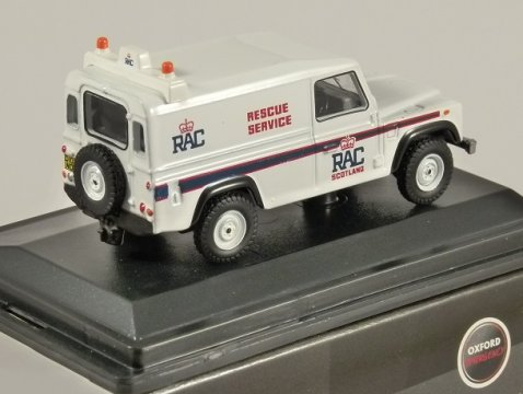 LAND ROVER DEFENDER RAC Rescue Service - 1/76 scale model OXFORD DIECAST