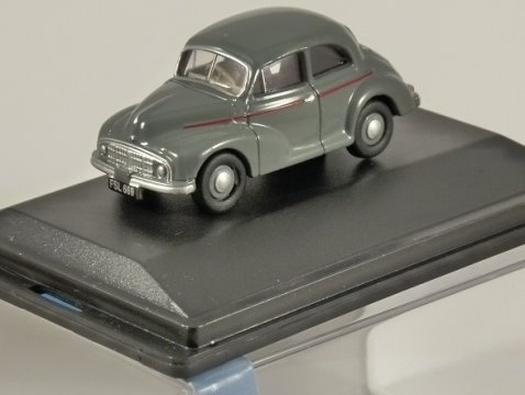 MORRIS MINOR MM Saloon in Grey 1/76 scale model OXFORD DIECAST