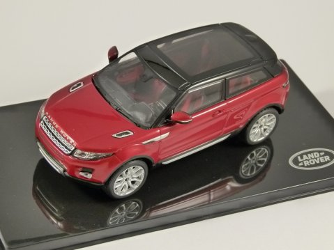 RANGE ROVER EVOQUE in Firenze Red 1/43 scale model by IXO