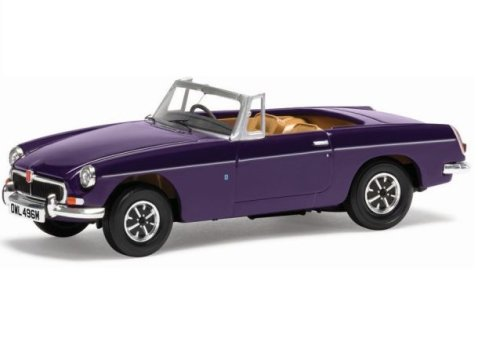MGB ROADSTER in Acconite Purple 1/43 scale model CORGI Vanguards