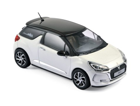 2016 CITROEN DS3 in White 1/43 scale model by Norev