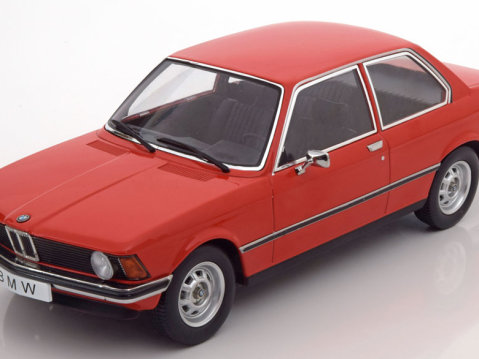 1975 BMW 318i E21 in Red 1/18 scale model by KK Scale Models