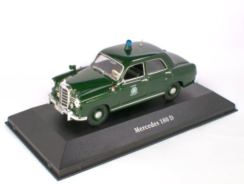 1953 MERCEDES BENZ 180D Deutschland Police 1/43 scale partwork model