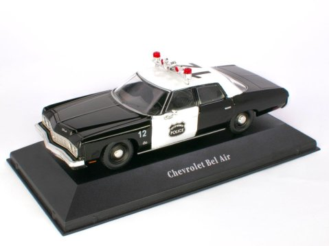1973 CHEVROLET BEL AIR USA Police 1/43 scale partwork model