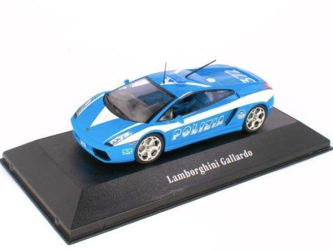 2004 LAMBORGHINI GALLARDO Italy Police 1/43 scale partwork model