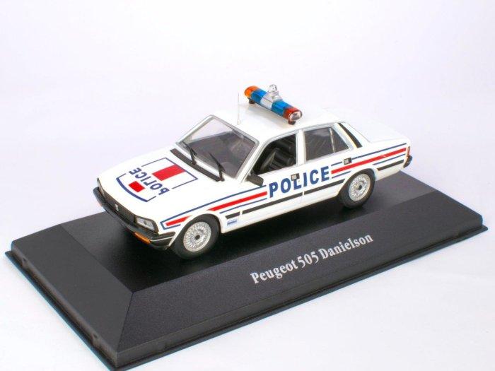 1983 PEUGEOT 505 France Police 1/43 scale partwork model