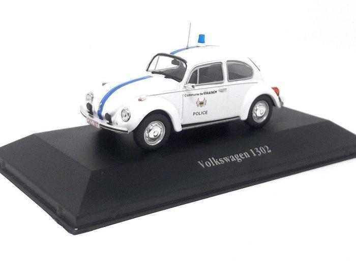 1970 VOLKSWAGEN 1302 BEETLE Belgium Police 1/43 scale partwork model