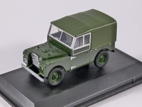 "LAND ROVER S1 88"" Canvas Back in Bronze Green 1/43 scale model Oxford Diecast"