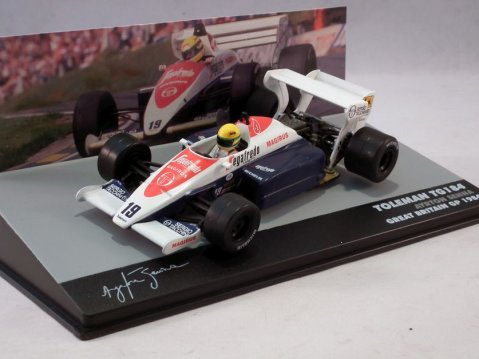 TOLEMAN TG184 F1 Ayrton Senna Great Britain GP 1984 1/43 scale partwork model