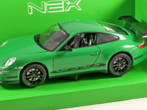 PORSCHE 911 (997) GT3 RS in Green 1/24 scale model by WELLY