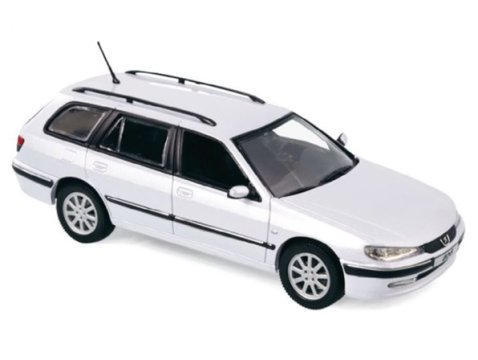 2003 PEUGEOT 406 ESTATE in White 1/43 scale diecast model by Norev