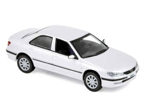 2003 PEUGEOT 406 Saloon in Banquise White 1/43 scale model by Norev