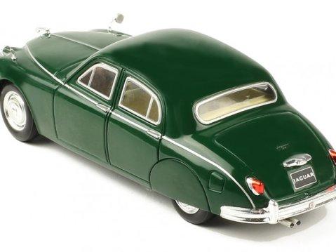 1957 JAGUAR Mk1 in Dark Green 1/43 scale model by IXO