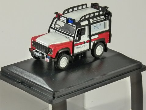 LAND ROVER DEFENDER 90 Hong Kong Police - 1/76 scale model OXFORD DIECAST