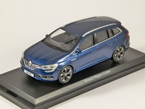 2016 RENAULT MEGANE ESTATE in Cosmos Blue 1/43 scale model by Norev