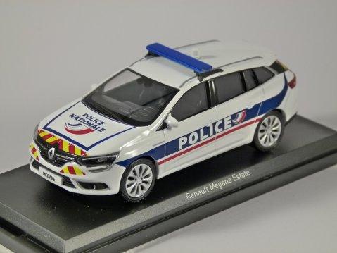 2016 RENAULT MEGANE ESTATE Police Nationale 1/43 scale model by Norev