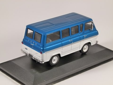 1964 FORD ECONOLINE BUS in Blue / White  1/43 scale model by Whitebox