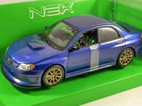 2010 SUBARU IMPREZA WRX STi in Blue 1/24 scale model by WELLY