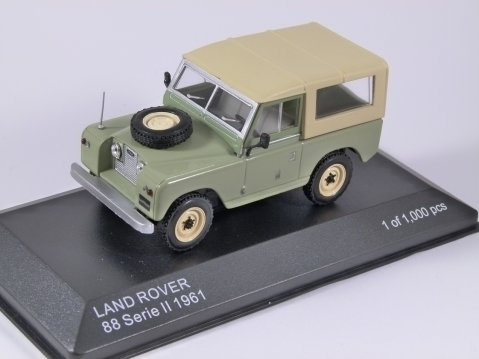 1961 LAND ROVER Series II in Green 1/43 scale model by Whitebox