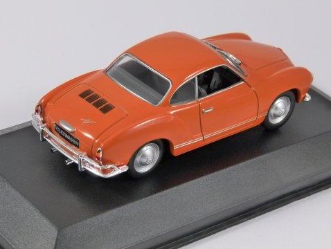 1962 VOLKSWAGEN KARMANN GHIA in Orange 1/43 scale model by Whitebox