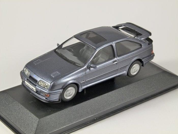 FORD SIERRA RS500 COSWORTH in Moonstone Blue 1/43 scale model CORGI Vanguards